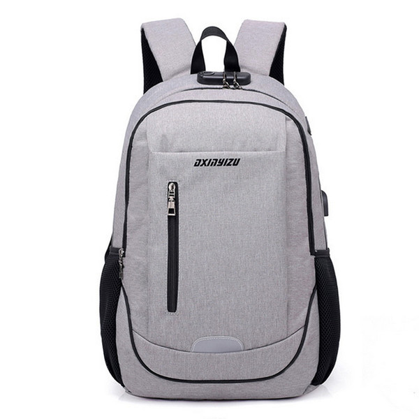 2018 Women Men External college casual Charging Shoulder bag School Large Backpacks Travel student Backpack Capacity USB