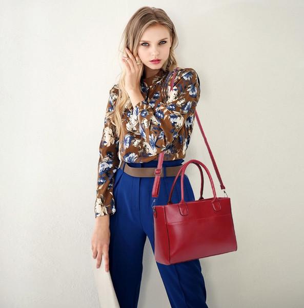 Women's handbag new four-piece composite bag fashion solid color ladies shoulder bag to send nail suit