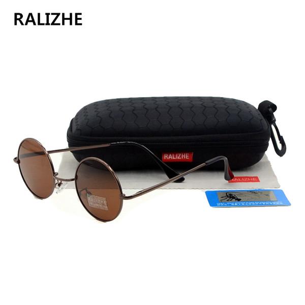 Retro Sonnenbrille Vintage rund wie Steampunk Biker Hipster Aviator Brillen Neu