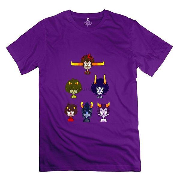 Camiseta de algodón fresca de dibujos animados Homestuck para hombre
