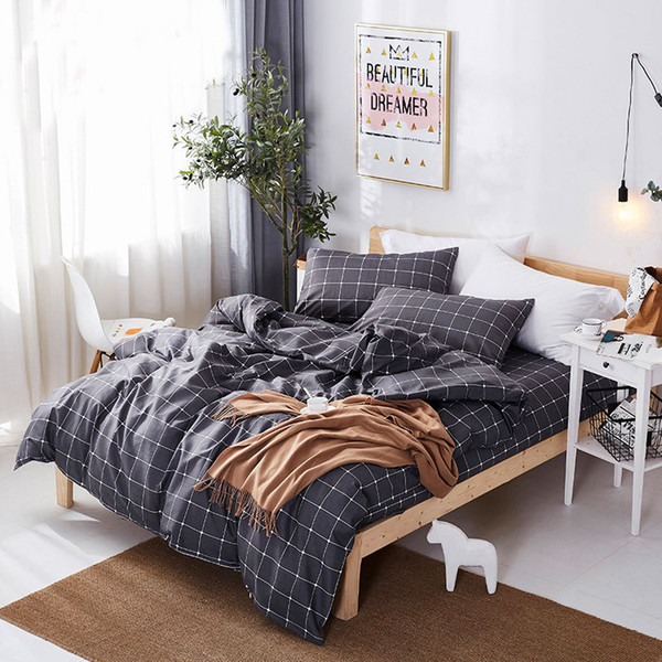 Classic Unicorn bedding set grey blue flower bed linen 4pcs/set duvet cover set Pastoral bed sheet duvet cover bedding set