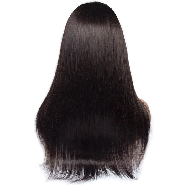 24 inches 13x4 Lace Front Human Hair Wigs Pre Plucked For Black Women Remy Brazilian Straight Lace Front Wig With Baby Hair Bleached Knots