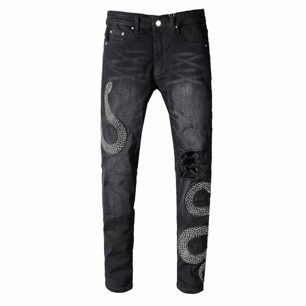 S19 New Arrive AM567 Skinny Motorcyclist Men Jeans Desinger in single cow thickened Slim Washed jeans