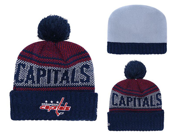 Beanies Hats WASHINGTON CAPITALS Ice Hockey Knit Beanies DETROIT RED WINGS BOSTON BRUINS Embroidered Stitched Hats One Size