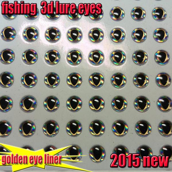 2015new fishing 3d lure golden eye liner fish eyes size:4,567mm8mm quantity:200pcs/lot 3d lure eyes