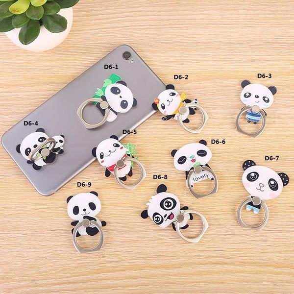 Ücretsiz kargo Evrensel 360 Derece Sevimli karikatür panda Parmak Yüzük Tutucu Telefon Standı Samsung Huawei iphone Cep Telefonları Için Akrilik mounts