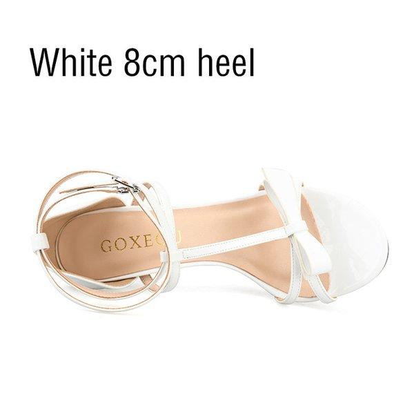 calcanhar 8 centímetros branco