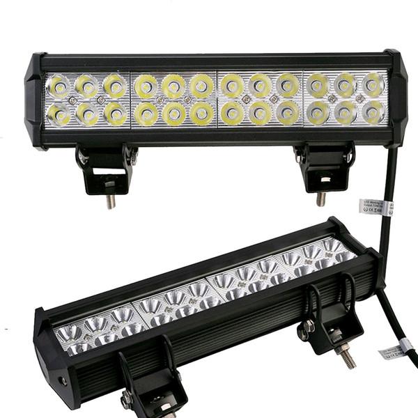 10pcs ha condotto la barra luminosa del lavoro del LED 72W per la barca del trattore OffRoad 4WD 4x4 camion SUV ATV Spot Flood Combo fascio lampada faro dell'automobile