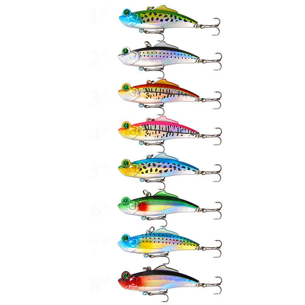 Proberos DWMI009 60-piece Set ABS Plastic Classic Fishing Lures Hard Bait