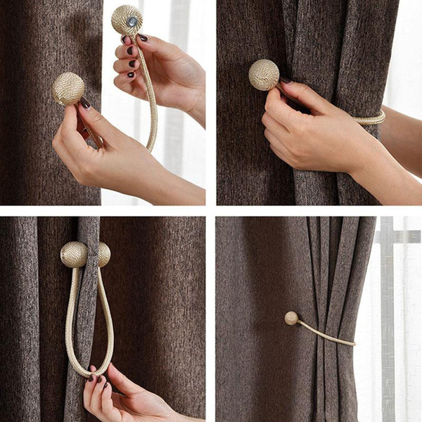 Moda Magnética Cortina Tiebacks Drape Rope Holdbacks Para fivela Sheer Panels Quarto Corda Strap Home Decor