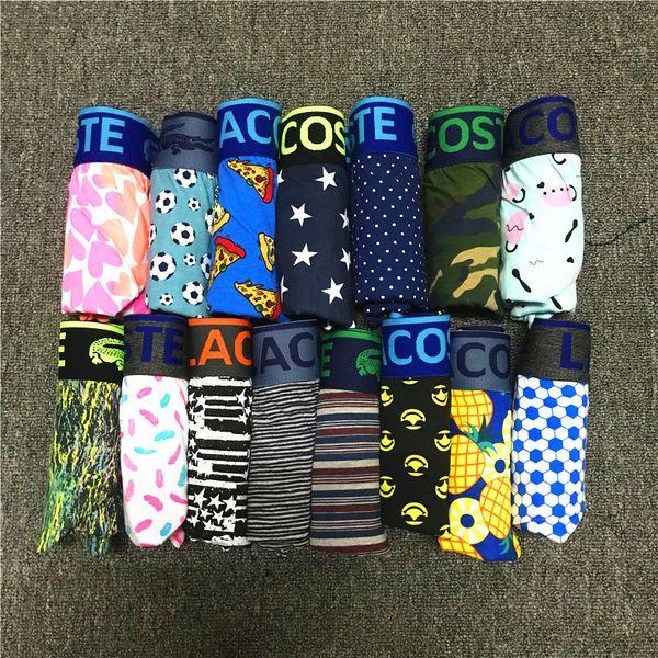 best selling 2019 Designer Mens Underwears Boxers Elastic Cotton Blend Luxury Boxer Crocodile Briefs Brand Letter Printed Male Underpant Home ShortsC8701
