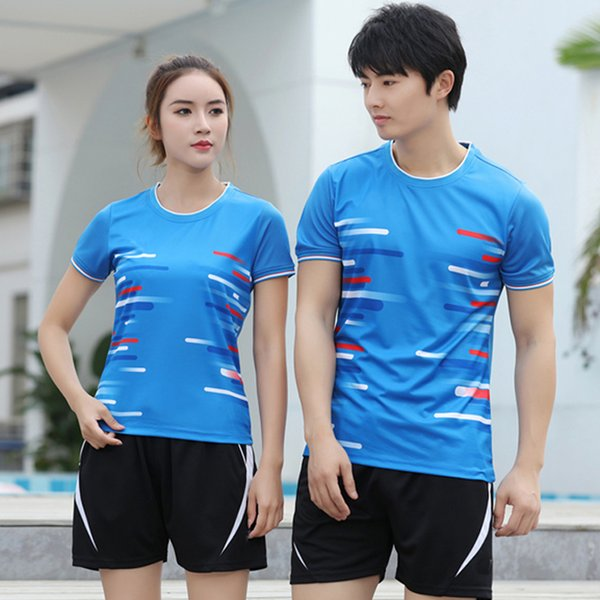 best selling 2020 New badminton suit men's and women's table tennis T-shirt sportswear quick drying breathable tennis shirt