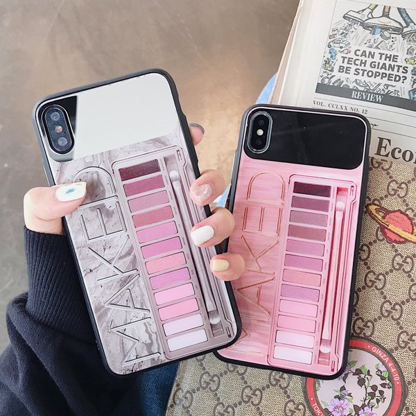 4932639b8b Top Eye shadow box Pink Cosmetics Case for iPhone8 8plus Xs max XR X back  cover