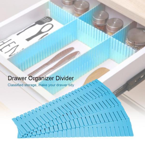 4pcs organisateurs en plastique tiroirs réglables garde-robe tiroir diviseur armoire stockage sous-vêtements chaussettes soutien-gorge bijoux divers