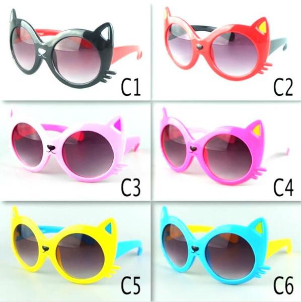 Kinder Sonnenbrille Katzengesicht Sonnenbrille Mädchen Sommer Cartoon Brillen Strand Brillen Sonnenschutz Brille Outdoor Reise Reiten Brille B5342