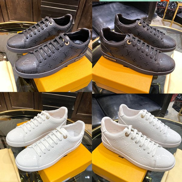 top popular 2019 new men High quality Casual shoes wear leather Joining together high quality The designer grid tie sports casual shoes size38~45 2020
