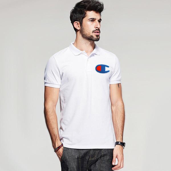 mens Casual Polo Shirts mode broderie grand LOGO été hommes t-shirt 100% coton t-shirt pour hommes