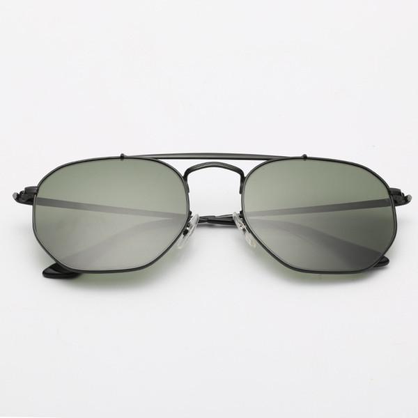 002 negro / G15 de color verde oscuro
