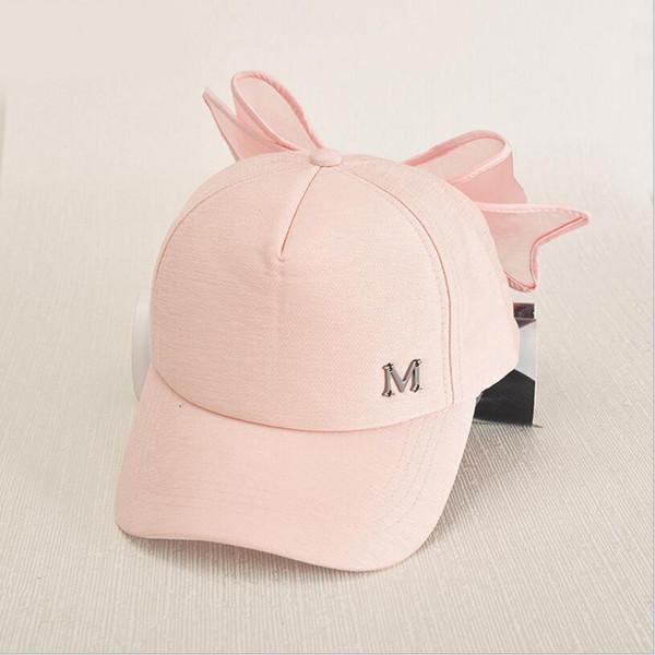 boné de beisebol da moda mãe e filha sol cap chapéu bowknot sólida para meninas aba larga cap sol de verão meninas roupas