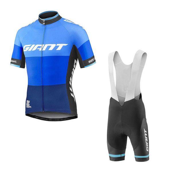 Gros-GIANT équipe mens cyclisme manches courtes maillot cuissard définit 3D pad de gel Top Brand Quality Bike sportwear Q71077