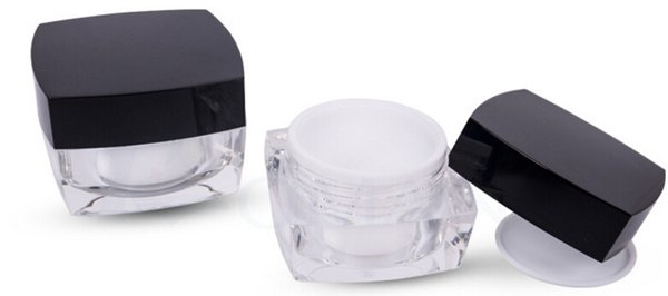 10g 10ml Square Acrylic Jars for Cosmetic,Cream cosmetic Jar,Refillable Bottle Transparent Small Bottle
