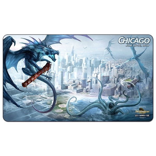 Magic Board Game Playmat:.Chicago dragon 60*35cm size Table Mat Mousepad Play Matwitch fantasy occult dark female wizard2Trial o