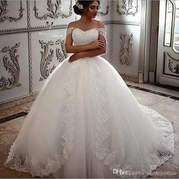 vintage lace wedding dresses off the shoulder beaded appliques with court train country bridal wedding gowns - from $188.88