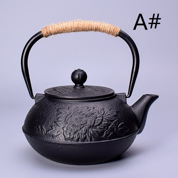 top popular Retro Japanese cast iron pot uncoated teapot making tea home lving 2021