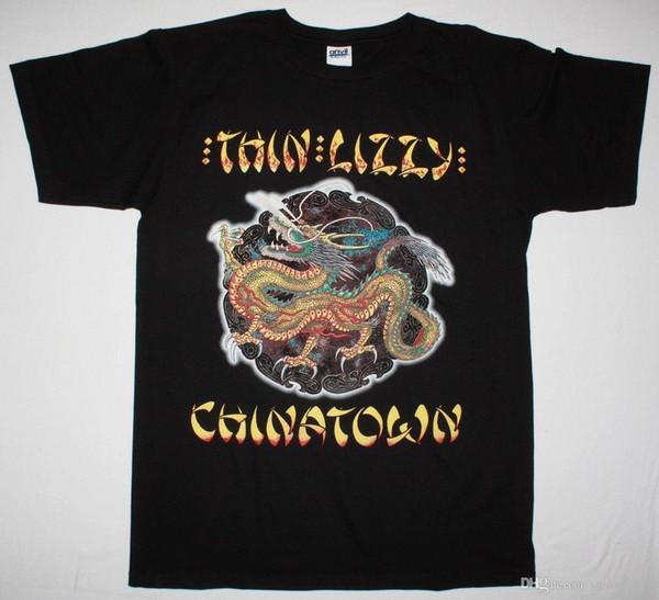 İnce Lizzy 'Chinatown' Tişört - YENİ RESMİ! O-Boyun Moda Rahat Yüksek Kaliteli Baskı T Shirt T Gömlek% 100% Pamuk