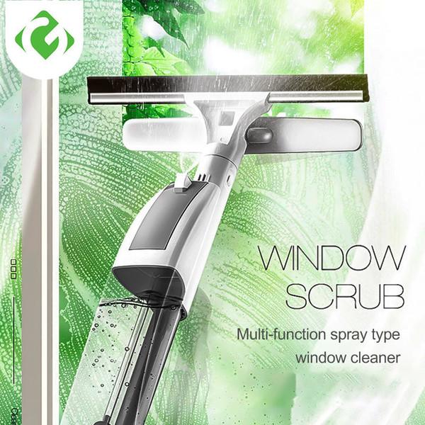 Guanyao Cam Temizleme Fırçası Su Sprey Ile Pencere Temizleyici Yüksek Kaliteli Alüminyum Uzun Sap Silecek Ve Bez Combo Silikon T190704