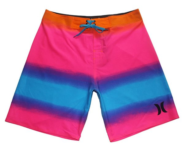 NEW Spandex Fabric Casual Shorts Men Board Shorts Beachshorts Bermudas Shorts Plus Size Swim Trunks Swimwear Swim Pants Quick Dry Surf Pants