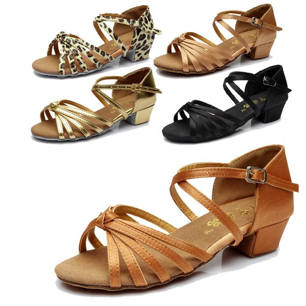 Child Ballroom indoor Shoes Dancing Shoes Latin Tango For Girl Discount Brand Heel Hight 3.5cm Cheap
