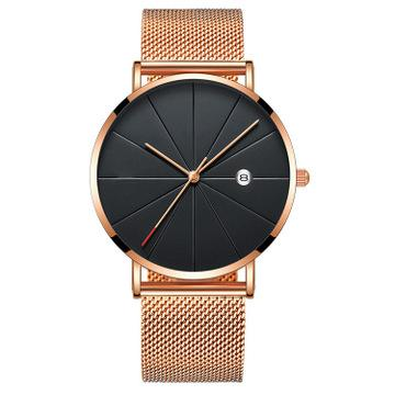2019 explosion models European and American cross-border men's fashion trend watch High-end business network with casual quartz watch