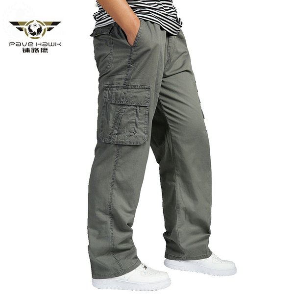 Men's Summer Cargo Pants Big Tall Men Casual Many Pockets Loose Work Pants Male Straight Trousers Plus Size Clothing 4XL 5XL 6XL
