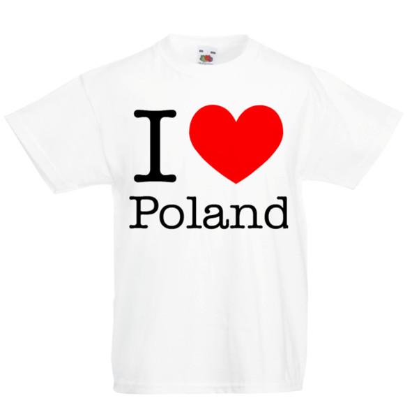 Eu Amo a Polônia T-Shirt do Miúdo Crianças Meninos Meninas Unisex Top Polonês Polska Manga Curta Plus Size T-shirt Estilo Estilo Rodada tshirt