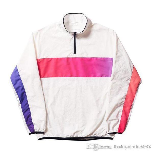 mens designer jackets fashion brand PALACES letter logo print windbreaker luxury rainbow gradient hip hop street jacket