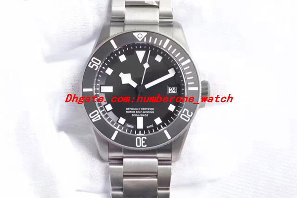 2 Style Top ZF V2 Automatic Cal.2824 Titanium ETA Watch Men Blue Dial Ceramic Chronometer Mens 25600TB Rotor Self Winding Watch