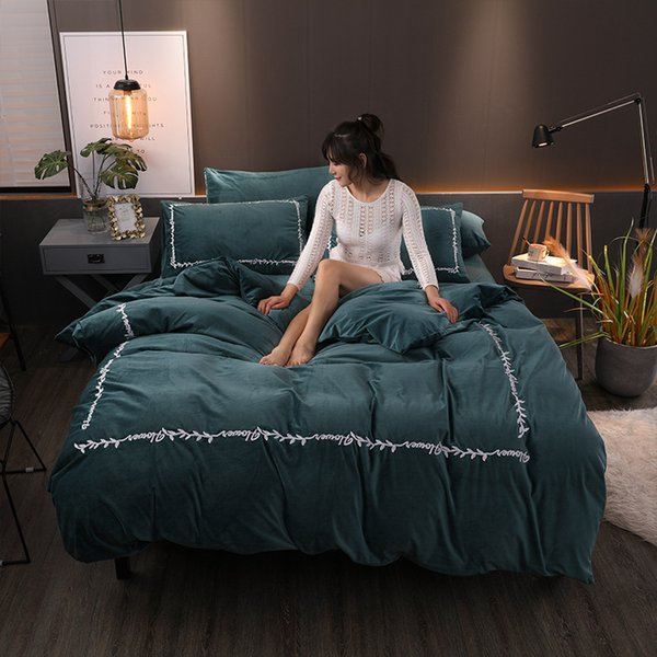 FB1901006 Nordic Faravon Double-sided Flannel Fleece Duvet Cover Bed Linens Bed Sheet Bed Clothes Home Textile