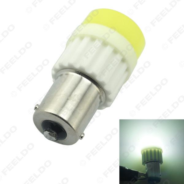Venda Por Atacado BA15S branco 1156 / S25 COB 10W cristal de cerâmica LED carro luz LED lâmpada reversa acender luzes de backup luz # 2714
