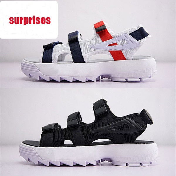 2019 new arrivel Original men women Summer Sandals black white red Anti-slipping Quick-drying Outdoor slippers Soft Water Shoe size 36-44