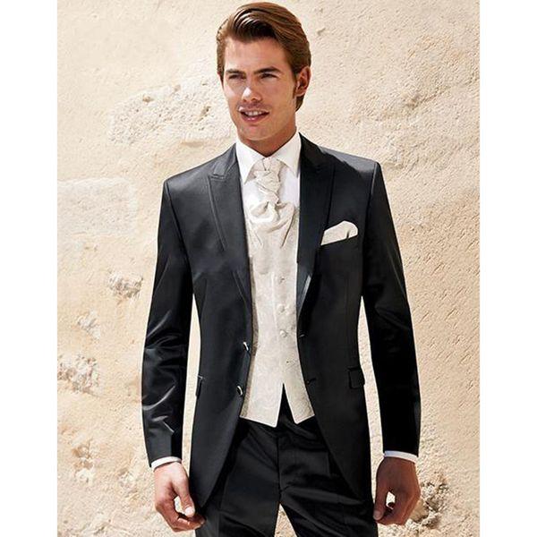 2019 Best Selling Custom made Men Wedding/prom Dresses Groom Tuxedos Suit (Jacket+Pants+vest+tie)
