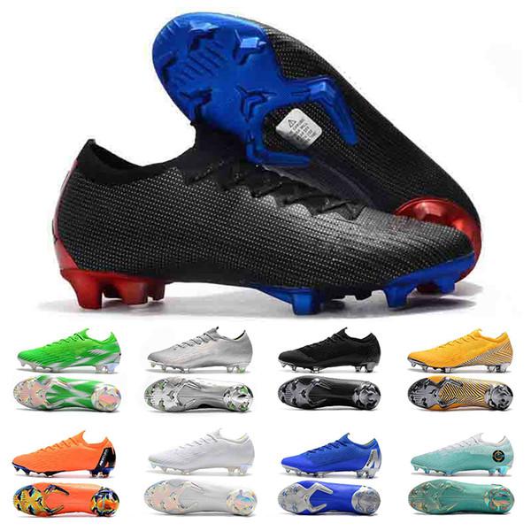 2019 Erkek Futbol Cleats Mercurial Superfly V Ronalro FG Kapalı Futbol Ayakkabıları Futbol Çizmeler Cr7 Neymar Çizmeler Yüksek Kalite Boyutu 39-45