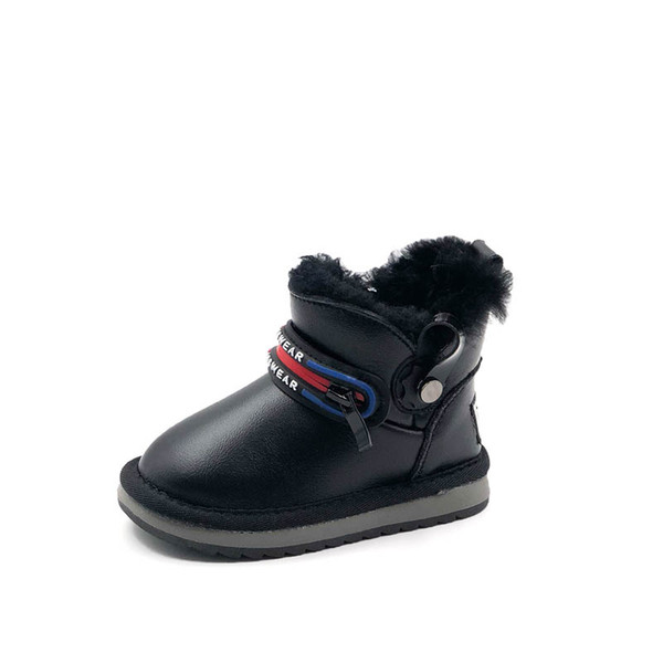 2019 New Winter toddler shoes baby boots boys snow boots toddler boots girls snow boot Leather toddler girl boot infant shoes retail A8529