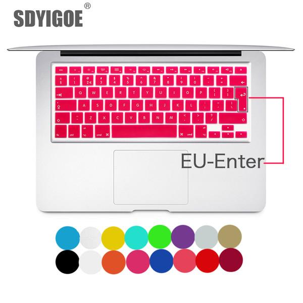 Крышка клавиатуры ноутбука для Macbook Air 13 Pro 15 дюймов A1466 A1502 A1278 A1398 Eu Силиконовая крышка клавиатуры Цвет Защитная пленка T190619