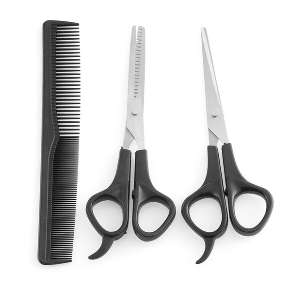 3 Pcs Professional Stainless Steel Hair Cutting Thinning Scissors Barber Tool Hair Scissor Comb Set Hairdressing Shears Kit