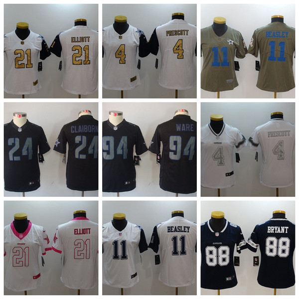 new styles 90556 8499f 2019 Women Youth 4 Dak Prescott Jersey Dallas 21 Ezekiel Elliott 82 Jason  Witte Cowboys Football Jerseys White Navy From Wish_wholesale, $25.89 | ...
