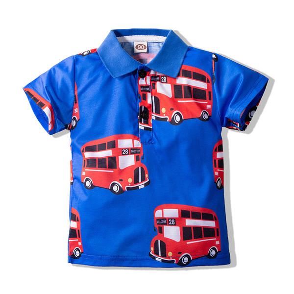 best selling Small Boy's T-shirt Short Sleeve Printed Kids T-shirt Fashion Casual Polo's Collar Summer Children T-shirt 90 100 110 120 130