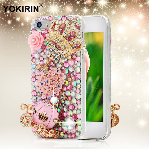 wholesale 3D Handmade Diamond Crystal Rhinestone Phone Cover Case for iPhone 5 5S 5C 6 6S Plus for Samsung Galaxy S6 Edge Note 5