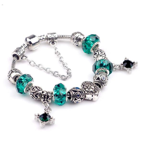 las mujeres de lujo de la joyería del diseñador para hombre collar de plata de ley 925 hacia fuera helado cadenas bola de cristal collares colgante brazalete de joyería NE1100