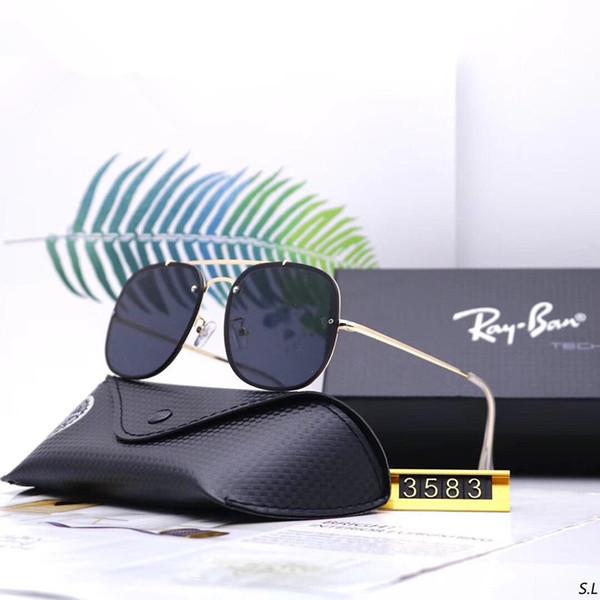 Homens verão Mulheres Designer de Óculos De Sol De Luxo Moda Óculos De Sol Adumbral Óculos de Proteção Óculos de Sol Estilo de Condução R3583 7 Cor de Alta Qualidade com Caixa